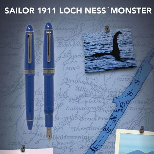 Sailor 1911L Fountain Pen - Loch Ness Monster