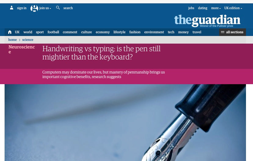 Handwriting Article Guardian