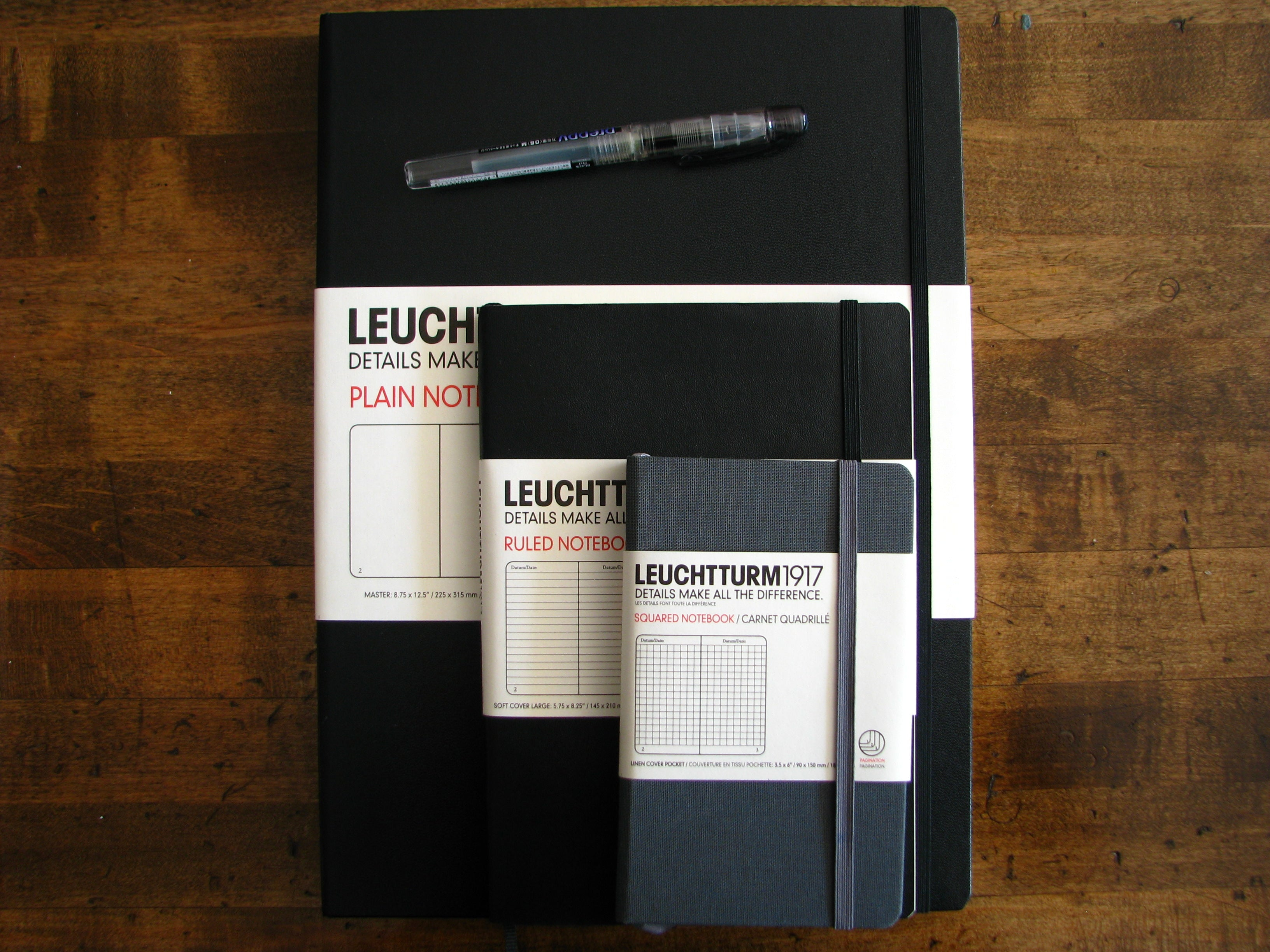 Leuchtturm Master Notebooks! Just the name sounds impressive.