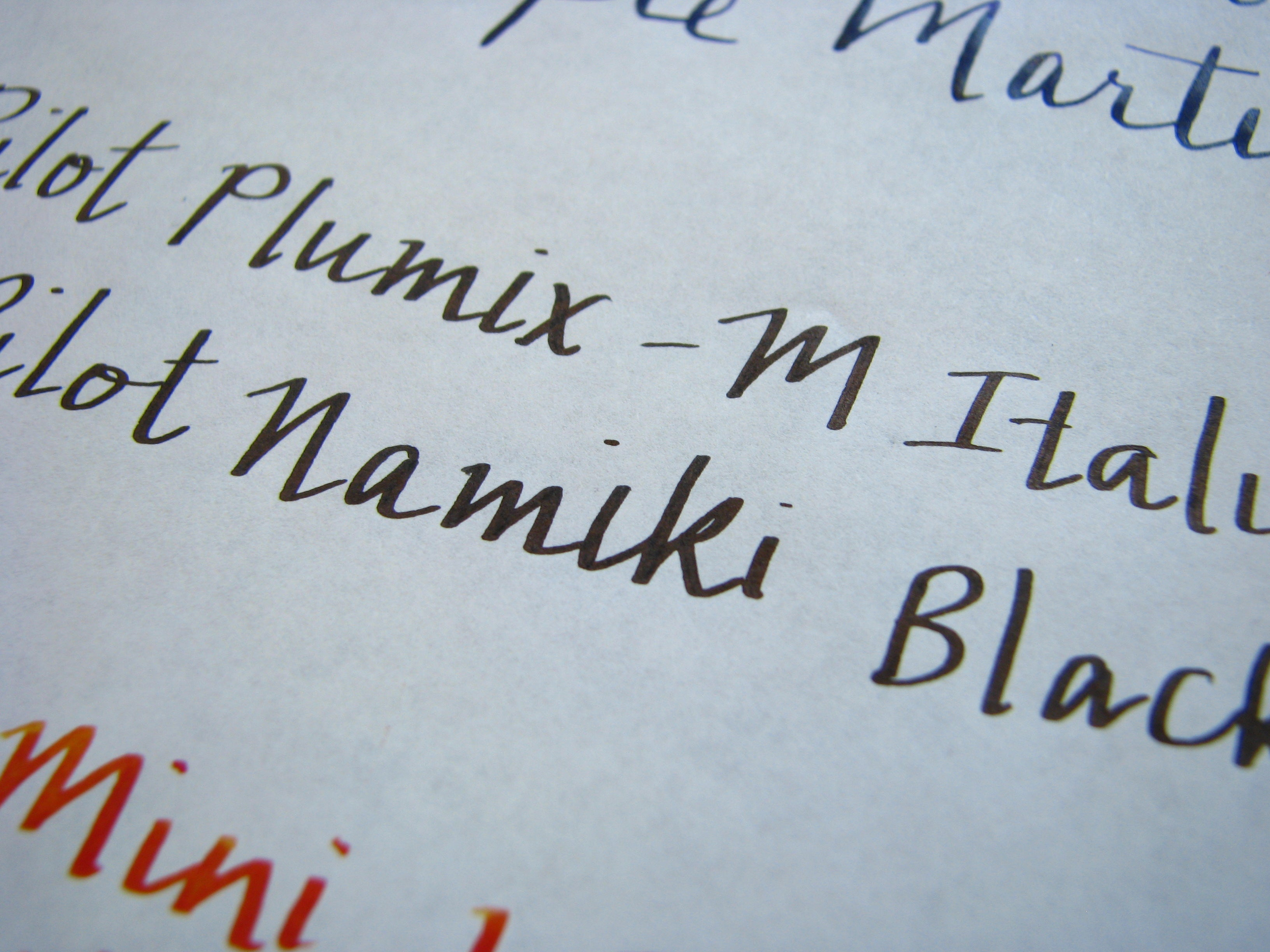 Italic Nib from Pilot Plumix on Tomoe River Paper - Pilot Cartridge
