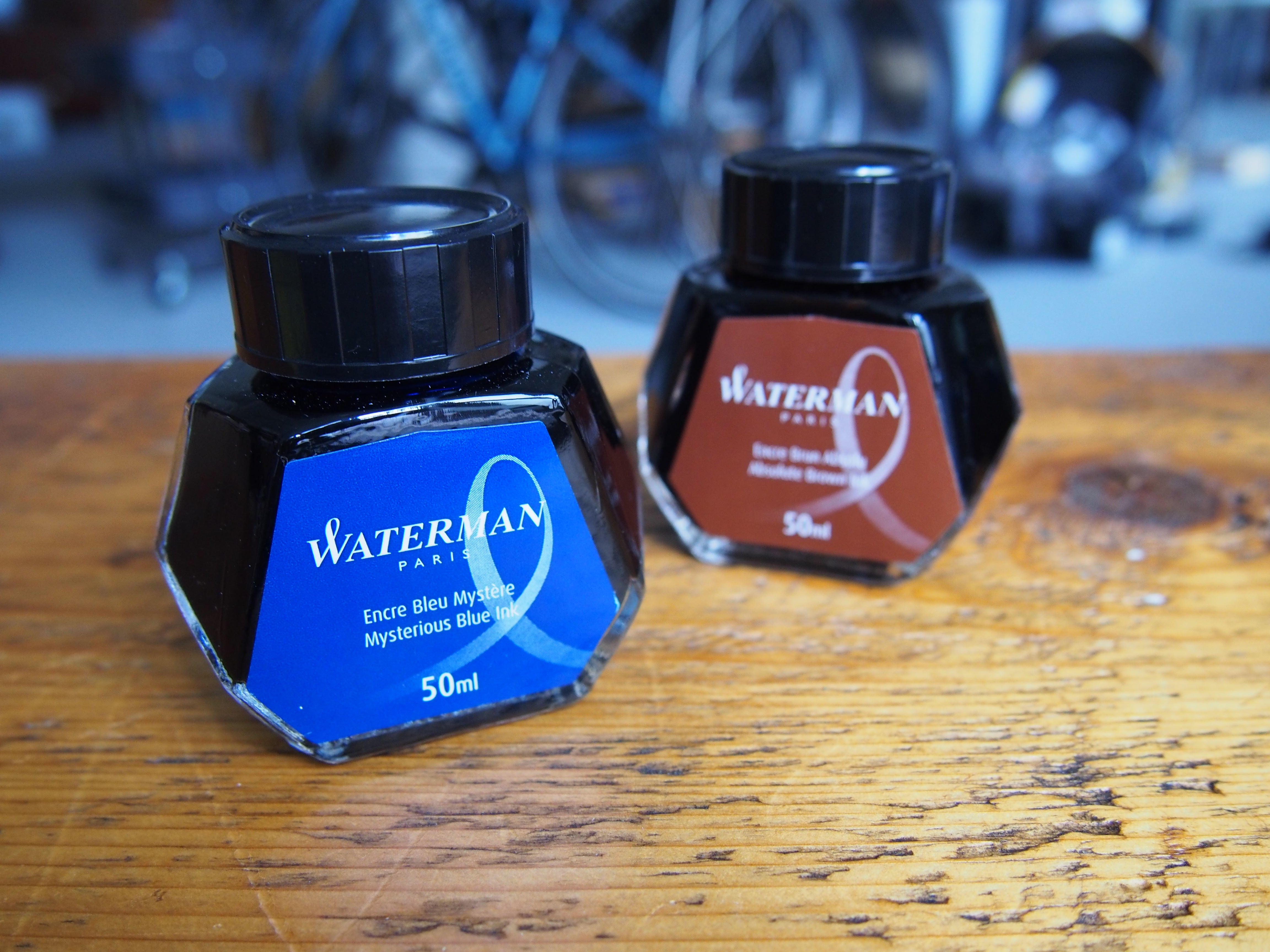 Waterman Fountain Pen Ink Mysterious Blue Absolute Brown Havana Brown Wonder Pens Blog wonderpens.ca Toronto Canada