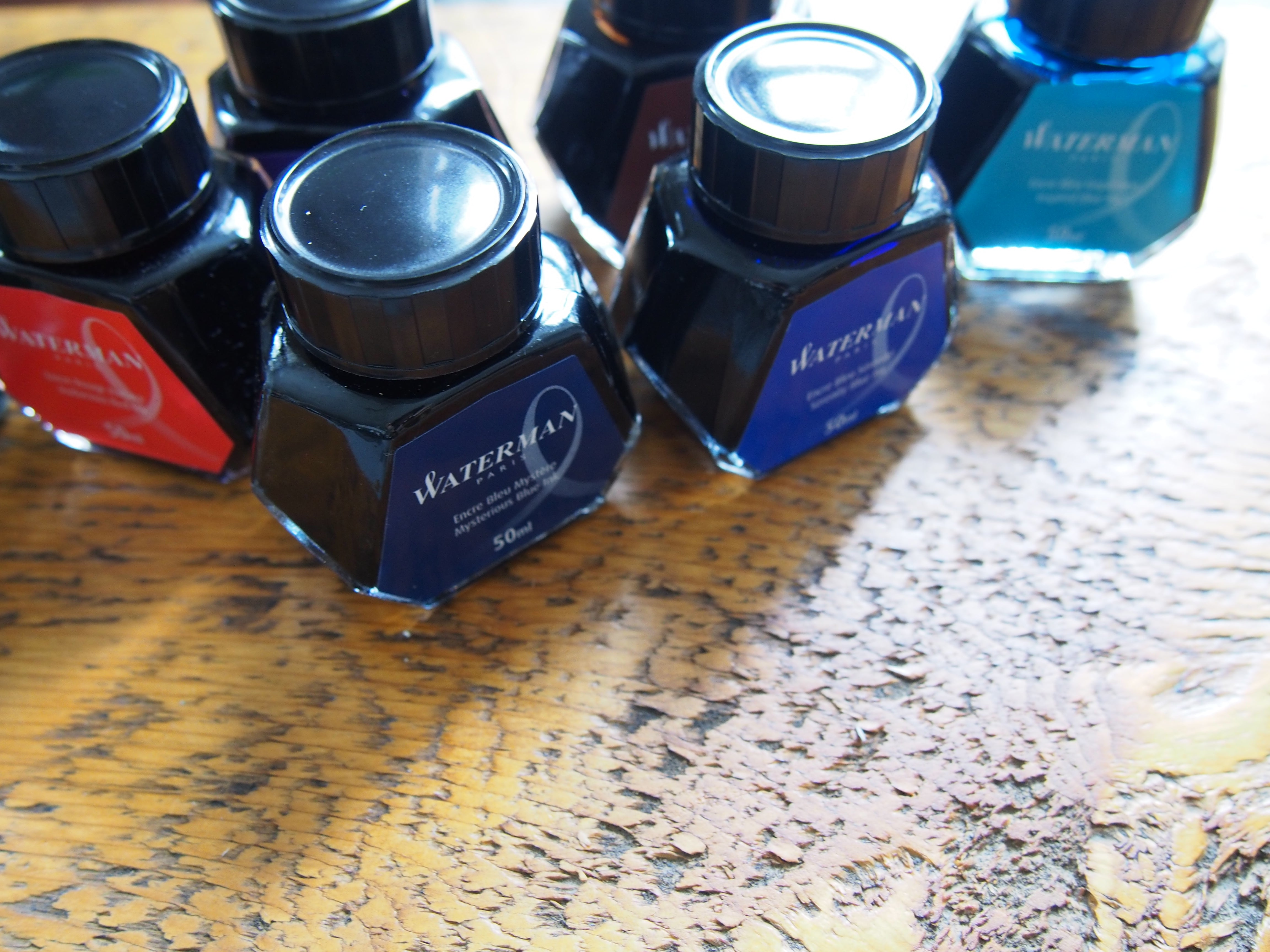 Waterman Fountain Pen Ink Mysterious Blue Serenity Blue Florida Blue South Sea Blue Toronto Ontario Canada wonderpens.ca Wonder Pens Blog