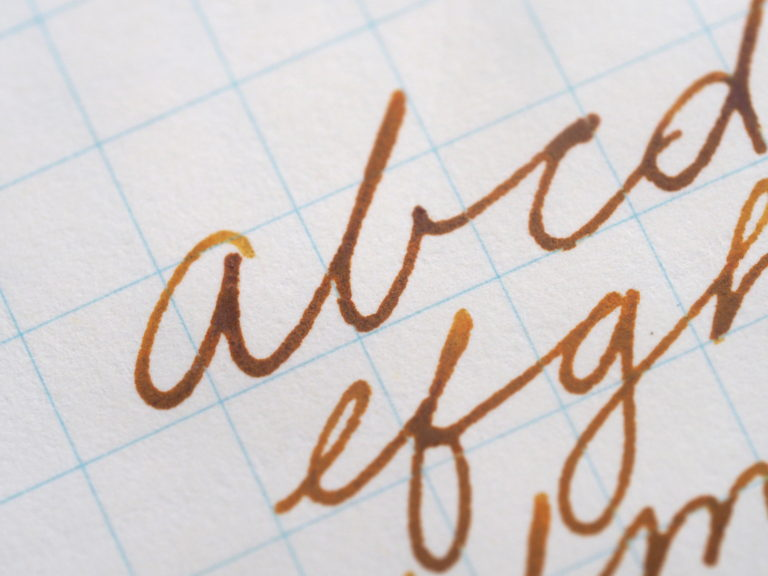 Noodler's Golden Brown Writing Sample Review Wonder Pens Toronto Canada