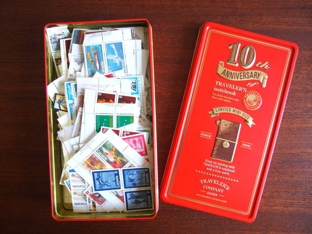 Midori 10th Anniversary Traveler's Notebook Tin Cans Mini Notebooks Toronto Canada Wonder Pens