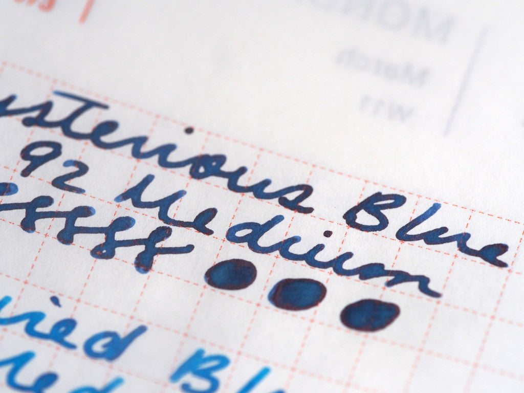 Fountain Pen Blog stationery shop ink review wonder pens hobonichi toronto canada Waterman Mysterious Blue Writing Sample