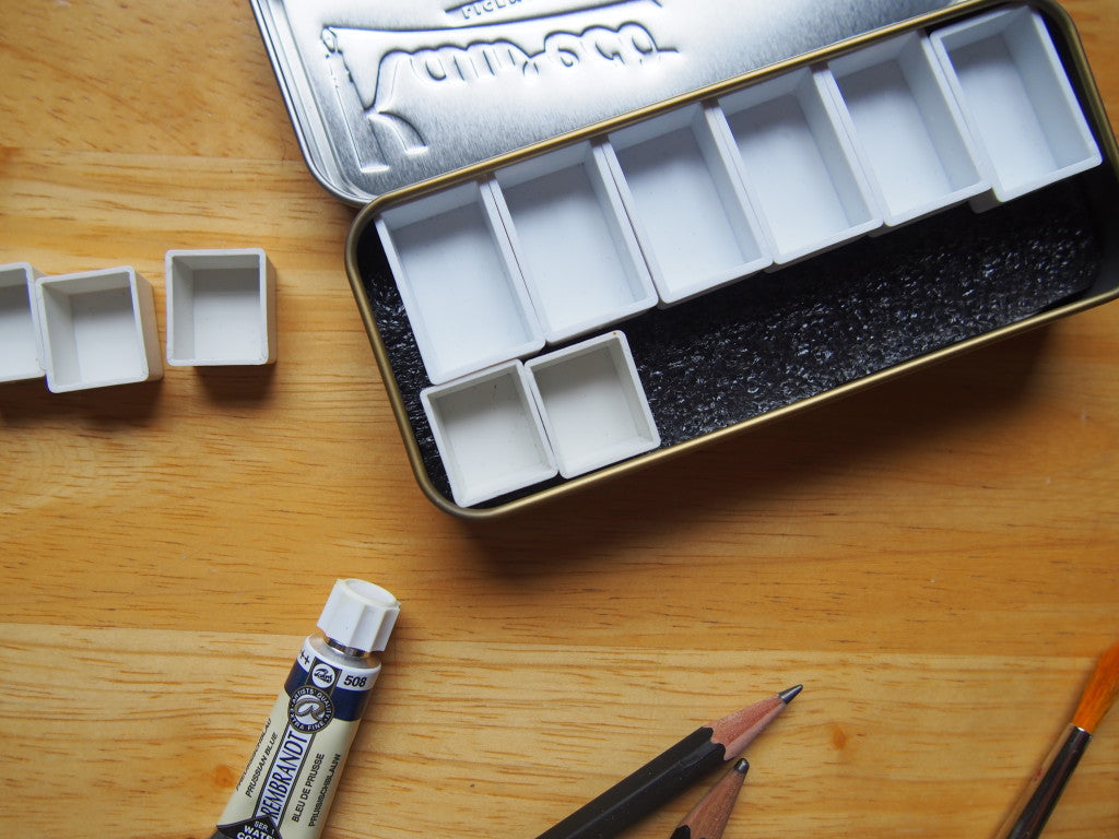 How to make your own watercolour watercolor palette kaweco tin case altoids wonderpens toronto canada