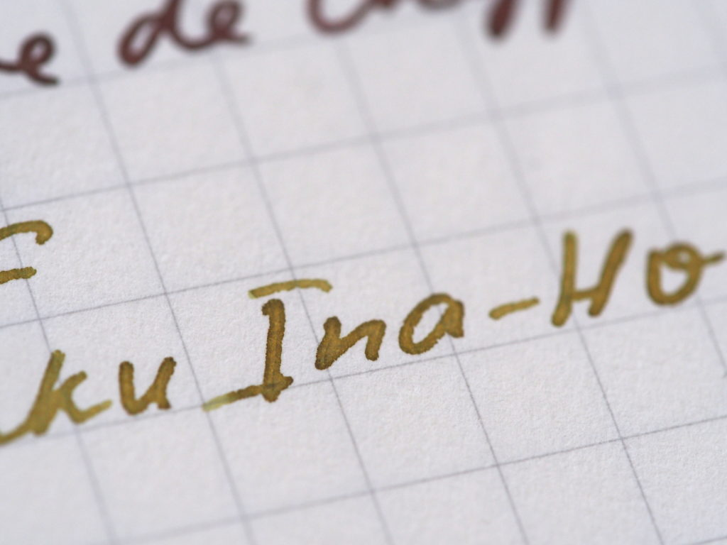 Pilot Iroshizuku Ina-Ho writing sample fountain pens Toronto Canada