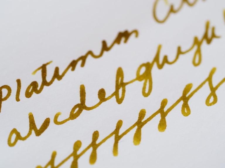 Platinum Citrus Black Writing Sample Toronto Fountain Pens