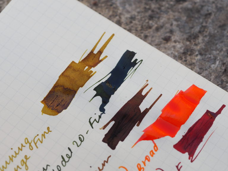 Fall fountain pen inks stationery Wonder Pens Toronto