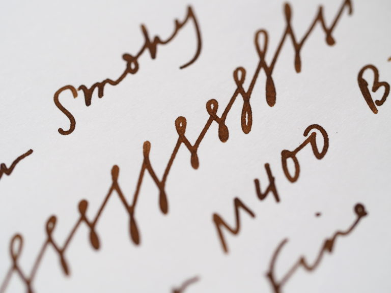 Pelikan Smoky Quartz Writing Sample