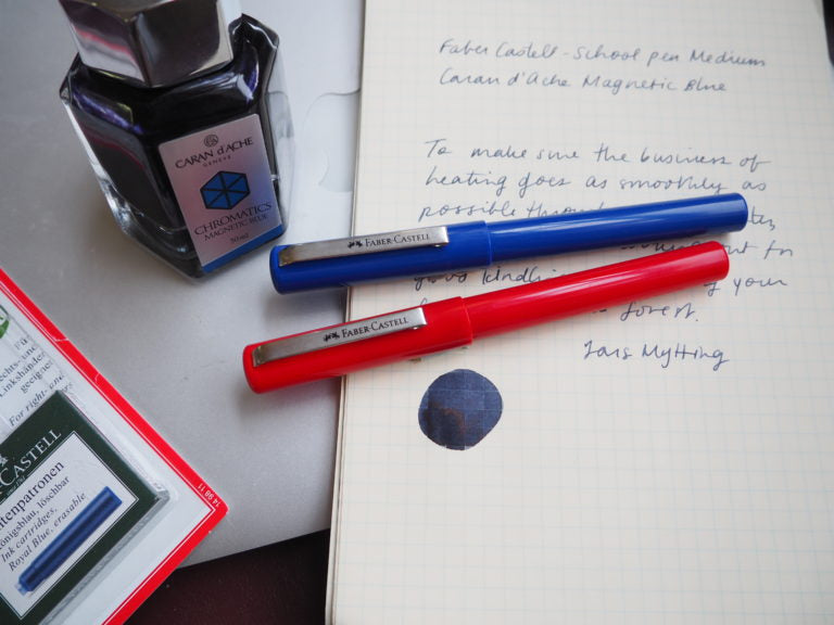Faber-Castell School Pen Blue and Red
