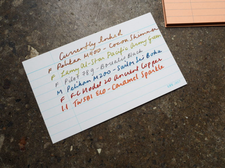 Currently Inked Cue Cards