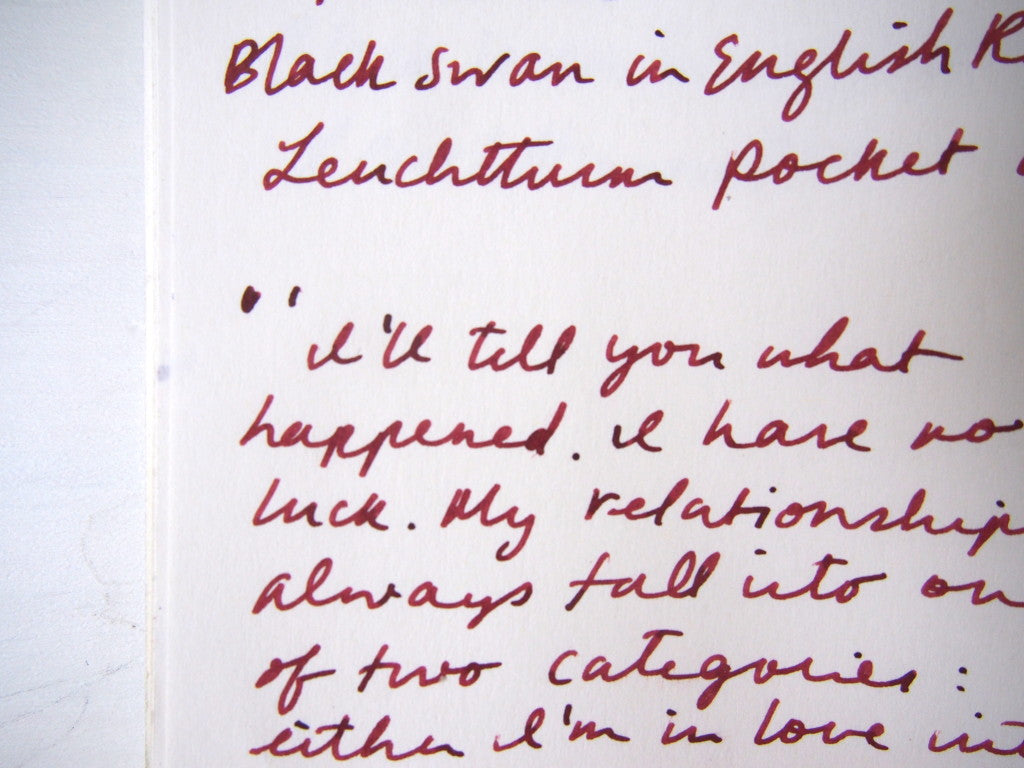 Noodler's Black Swan in English Roses Wonder Pens Fountain Pens Ink Review Toronto Canada Stationery