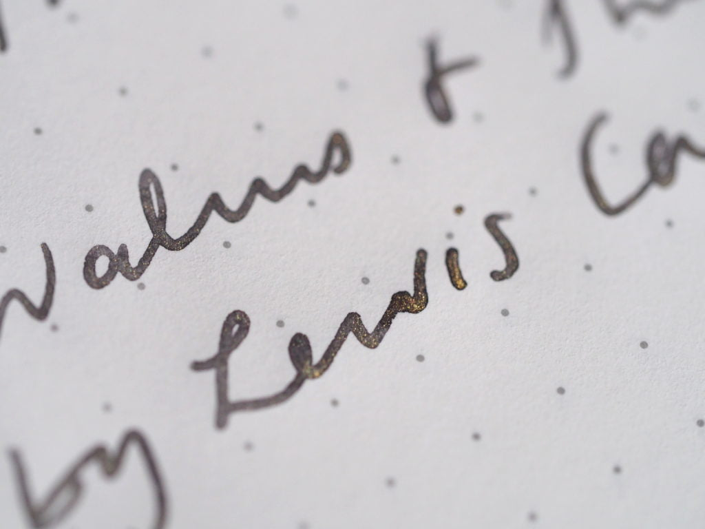 J. Herbin Stormy Grey Writing Sample