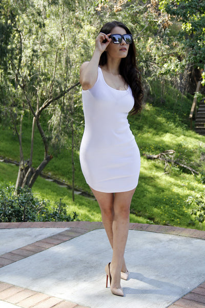 Basic Tank Dress - White
