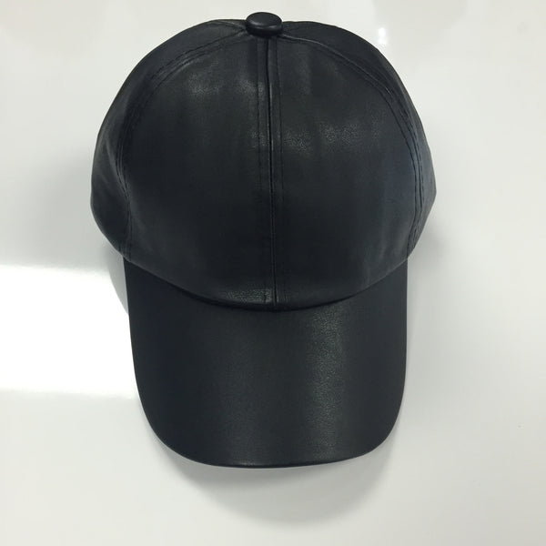 Leather Hat - Black