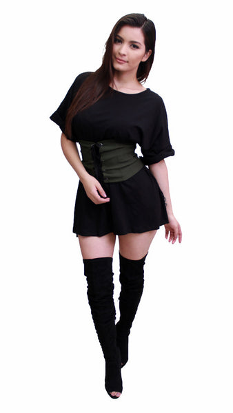 Oversized Tee Dress - Black