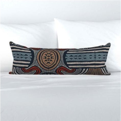 Extra Long Lumbar Pillow - Bangba Blue Mood (New!)