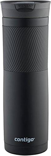 Contigo 72952 Vacuum-Insulated Stainless Steel Travel Mug, 24oz, Matte Black