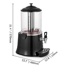 Load image into Gallery viewer, YUCHENGTECH 10L Commercial Hot Chocolate Maker Machine Chocolate Dispenser Warmer Hot Beverage Warmer for heating Chocolate Coffee Milktea CE Certification (110V, 10L)