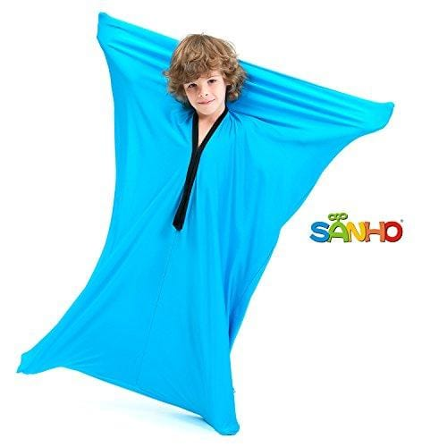 SANHO Dynamic Movement Sensory Body Sock - Updated Version , Bright Blue (Medium)