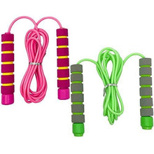Load image into Gallery viewer, Skipping Rope by Xarus – Jump Rope For Kids Girls & Boys – Soft Handled Best for Children Workout Equipment – Indoor and Outdoor Fitness Games for Student Exercise & Health – Fun Sports Activity, 2 Pack