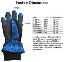 Load image into Gallery viewer, N'Ice Caps Kids Cold Weather Waterproof Camo Print Thinsulate Ski Gloves (Blue Digital Camo, 10-12 Years)