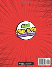 "Load image into Gallery viewer, Blank Comic Book: Draw Your Own Comics - 150 Pages of Fun and Unique Templates - A Large 8.5"" x 11"" Notebook and Sketchbook for Kids and Adults to Unleash Creativity"
