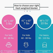 "Load image into Gallery viewer, Super Soft 7 Lbs Weighted Blanket for Kids with Removable Cover - 41"" x 60"" Children Heavy Blanket for Girls Between 60-80 lbs - Kids Weighted Blankets"