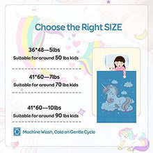 Load image into Gallery viewer, BUZIO Kids Weighted Blanket 5lbs, Unicorn Fleece Blanket for Kids with 4 Color Options, Ultra Soft and Cozy Heavy Blanket, Great for Calming and Sleep 36 x 48inch