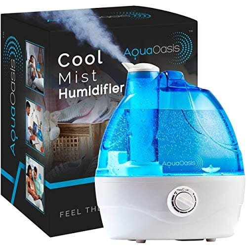 AquaOasis™ Cool Mist Humidifier {2.2L Water Tank} Quiet Ultrasonic Humidifiers for Bedroom & Large room - Adjustable -360° Rotation Nozzle, Auto-Shut Off, Humidifiers for Babies Nursery & Whole House