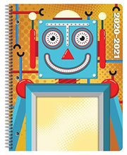 Load image into Gallery viewer, Dated Elementary Student Planner 2020-2021 Academic School Year, 8.5x11 inch Block Style Datebook with Create Robot Cover