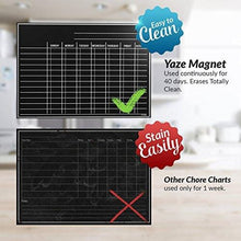 Load image into Gallery viewer, Magnetic Chore Chart for Kids - 4 Chalk Markers - Children's Dry Erase Chalkboard Calendar for Multiple Household Chores & Responsibilities - Easy-to-Clean Reusable Family Refrigerator Weekly Planner