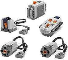 Load image into Gallery viewer, LEGO 5pc Power Functions Motor Battery IR Remote Receiver SET