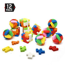 Load image into Gallery viewer, Big Mo's Toys Puzzle Erasers - Individually Wrapped Goody Bag Party Favor and Stocking Stuffers Pencil Eraser - 6 Balls and 6 Cubes
