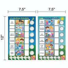 Load image into Gallery viewer, Magnetic Chore Chart for Kids - Dry Erase Board, Responsibility Chore Chart, a Board for Morning Schedule and a Board for Bedtime Schedule, Smart Planner, Included 4 Markers by Healthy plan