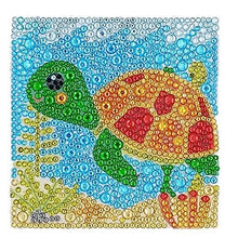 Load image into Gallery viewer, ParNarZar Easy 3D Diamond Painting Kit Turtle for Kids, Beginners Art Crafts Kits for Girls with Frame 6x6inches