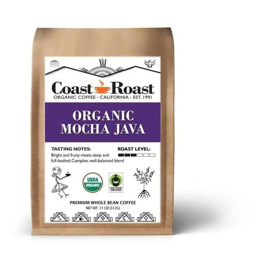 Organic Mocha Java Whole Bean Coffee Blend