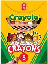 Load image into Gallery viewer, Crayola Multi Cultural Crayons, Regular, Assorted Skin Tone Colors, 8pk. (Free Shipping)