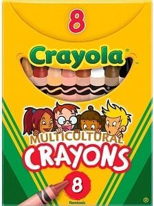Crayola Multi Cultural Crayons, Regular, Assorted Skin Tone Colors, 8pk. (Free Shipping)