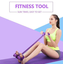 Load image into Gallery viewer, Portable Fitness Resistance Band with Pedal