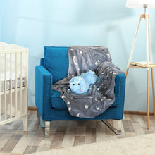 Load image into Gallery viewer, Glow in the Dark Blanket & Pillow Set-Gray & Blue