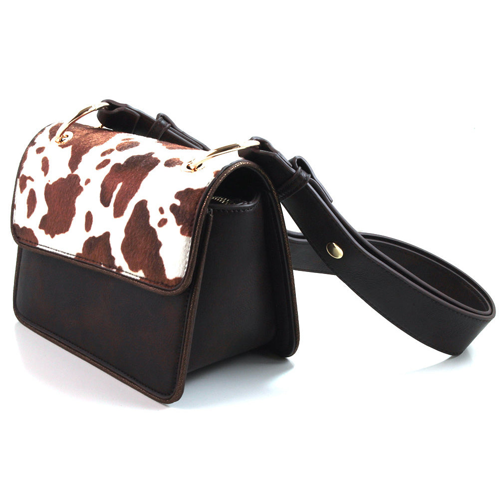 Ruby Shoo Nashville shoulder bag with cow hide look