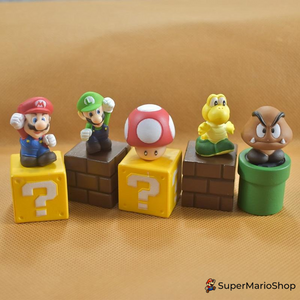 3D SUPER MARIO MAGNETS - 5P/Set - SuperMarioShop