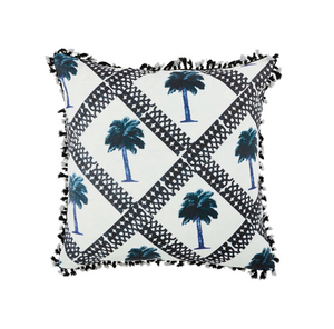 Cushion - Tiny Palms Indigo 60cm