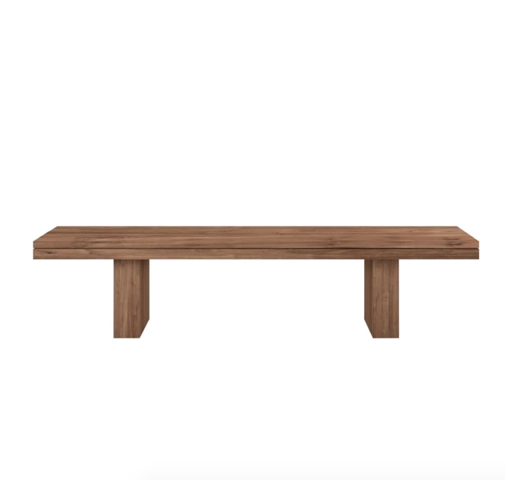 Teak Double Bench - Flat Packed