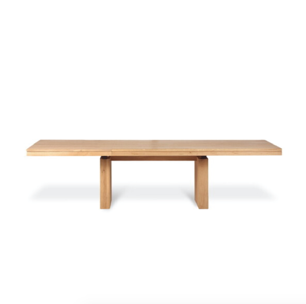 Oak Double Extendable Dining Table 200-300/100/76