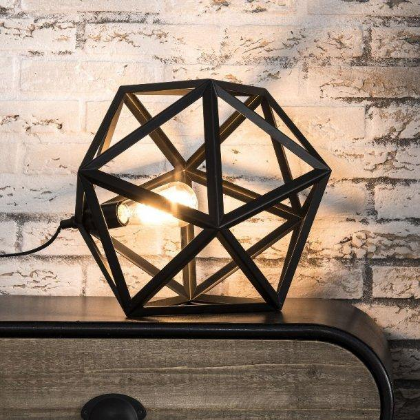 Bordlampe, industri design, sort metal, triangelformet | HemmingsenInteriør