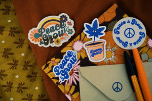Peace & Grow ☮︎︎ Groovy stickers pack ✌︎︎