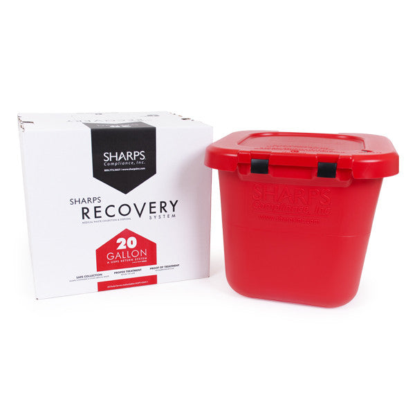 20 Gallon Medical Professional Sharps Recovery System return by USPS